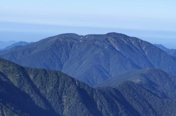 南アルプスの光岳