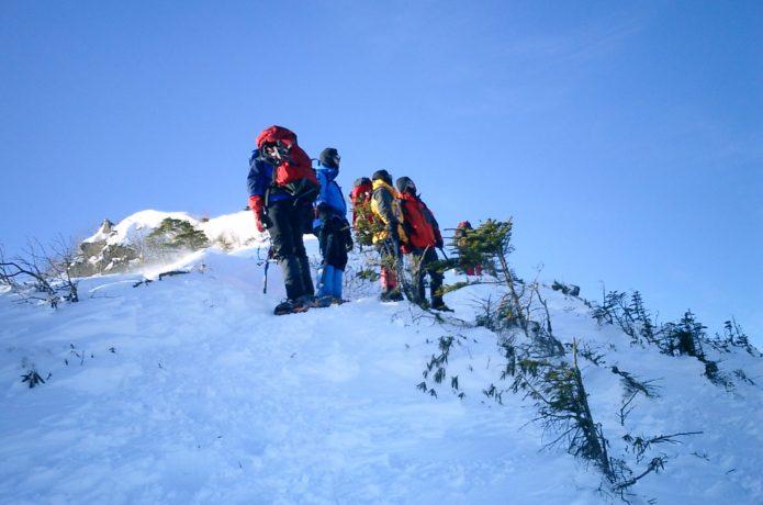 冬山登山の人