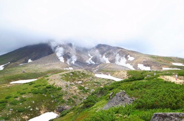 大雪山 旭岳 曇り