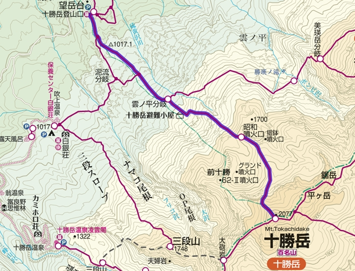 望岳台コース図