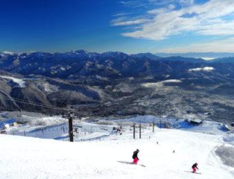 長野県白馬のスキー場